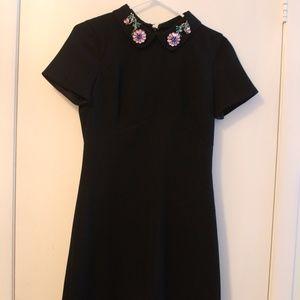 Dresses - Zara Black dress with bejewelled peter pan collar